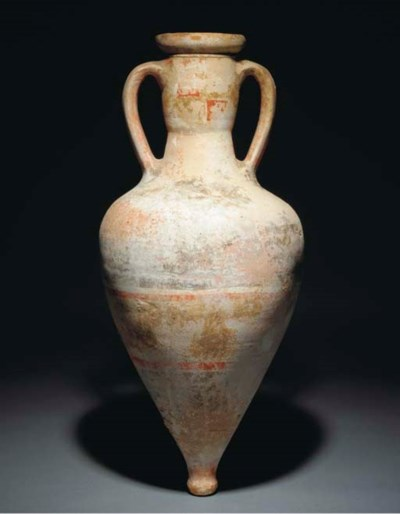 A GREEK PAINTED POTTERY WINE A