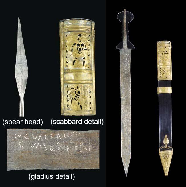 A Pompeii Type Gladius Short Sword Tinned Bronze