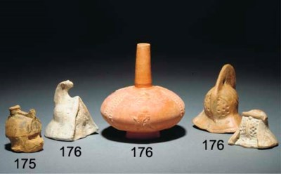 THREE ROMAN TERRACOTTA GLADIAT
