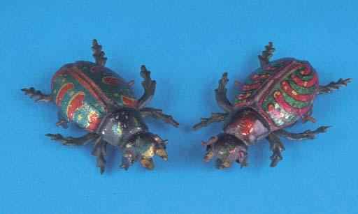 Einfalt lithographed Beetles
