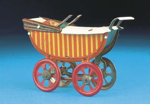 A rare Meier Baby Carriage