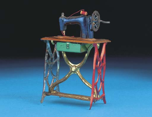 A German Treadle Sewing Machin