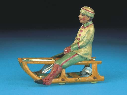 A Meier Boy Sitting on Sledge,