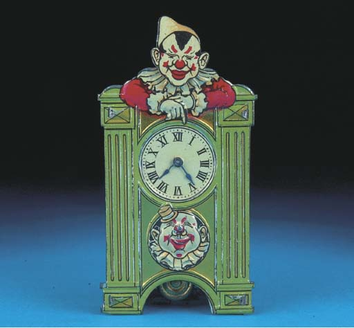 A German clockwork Clown Clock
