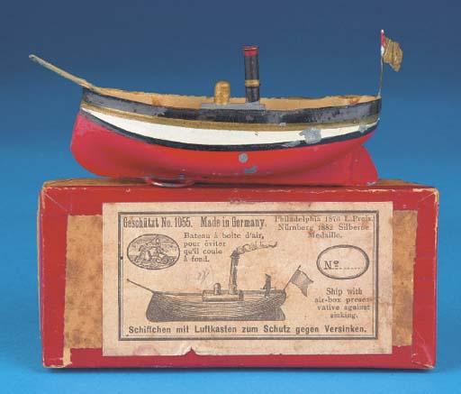 An Übelacher tinplate Steamshi