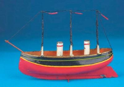 A German tinplate two-mast thr