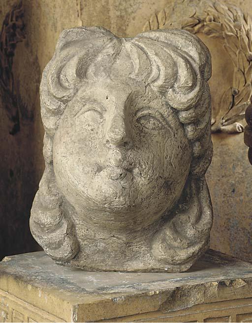AN ITALIAN ISTRIAN STONE CORBE