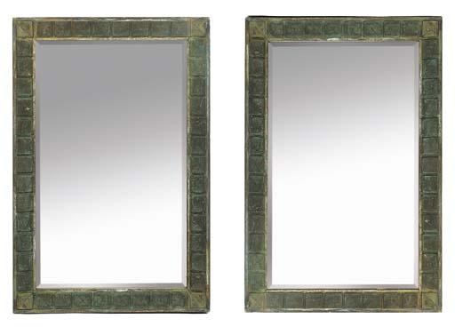 A PAIR OF ART DECO BRONZE FRAM