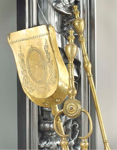 A SET OF THREE ENGLISH BRASS F