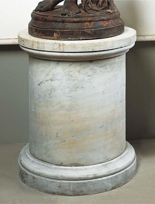 A large Carrara marble pedesta