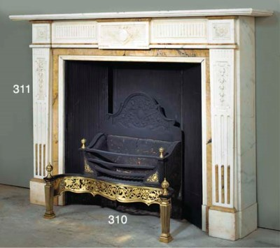 AN ENGLISH CAST IRON AND BRASS