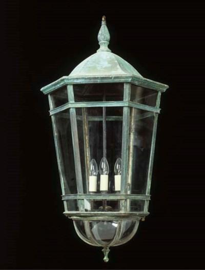 A copper lantern