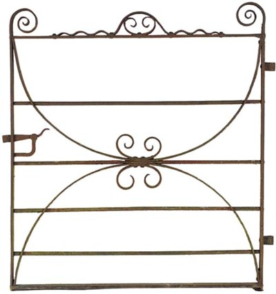 AN ENGLISH WROUGHT IRON GATE
