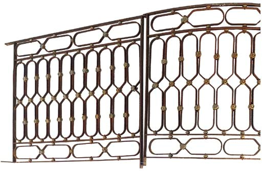 A SET OF WROUGHT IRON BALCONIE