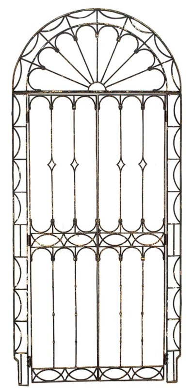 A WROUGHT IRON PORTICO