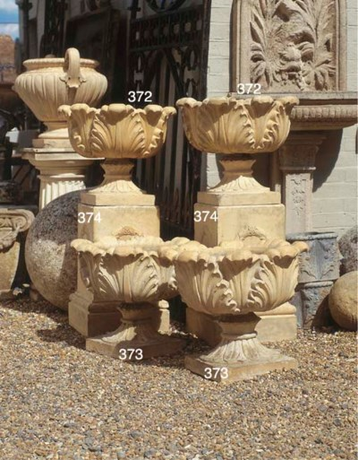 A PAIR OF ENGLISH TERRACOTTA P
