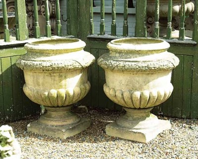 A PAIR OF SCOTTISH TERRACOTTA