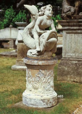AN ITALIAN LIMESTONE FOUNTAIN