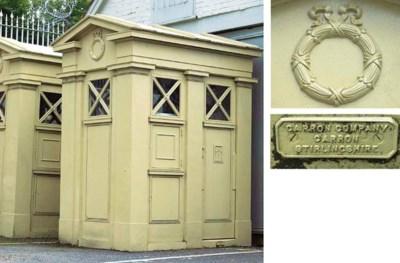 TWO SCOTTISH CAST IRON GATE HO
