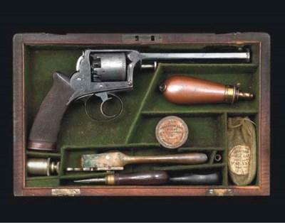 A CASED 120-BORE ADAMS 1857 MO