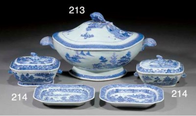 A Chinese blue and white quatr