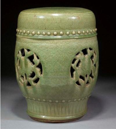 A Chinese celadon glazed garde