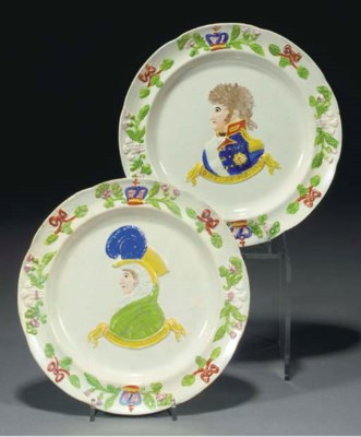 A pair of Scottish pearlware c