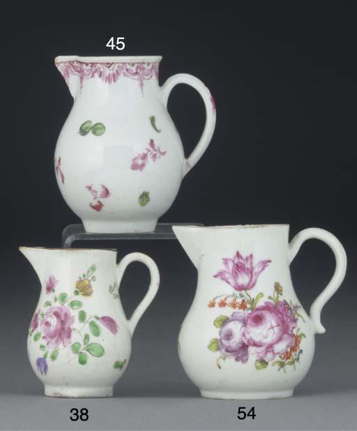 A Bristol milk jug