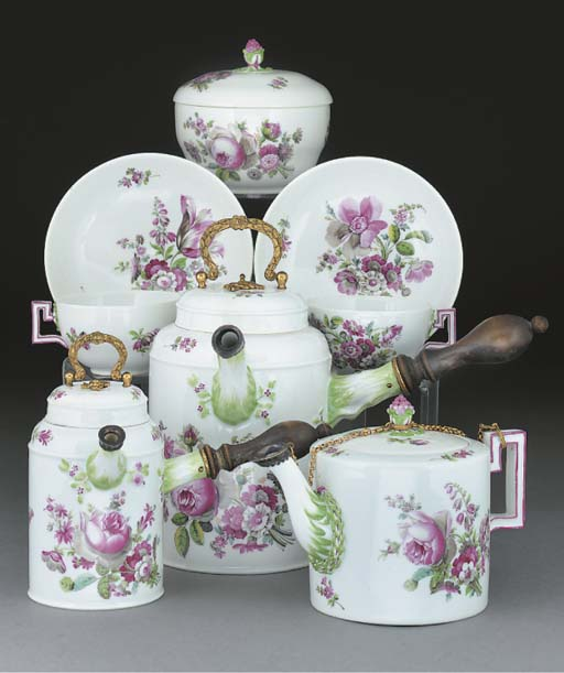 A Meissen (Marcolini) part tea