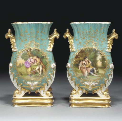 A pair of Paris turquoise-grou