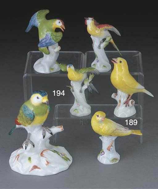 Four various Meissen models of