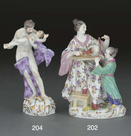 A Meissen Chinoiserie group