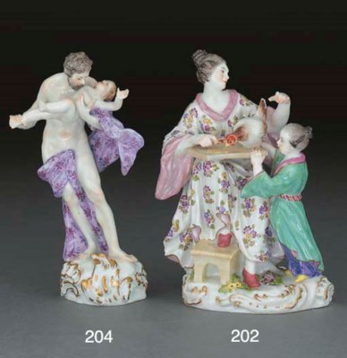 A Meissen figure of Saturn