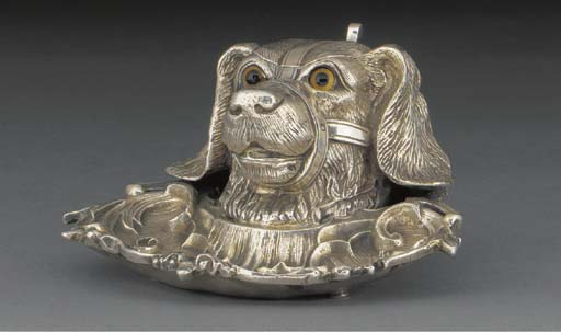 A Plated Novelty Inkstand