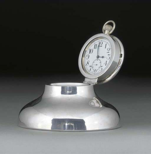 A George V Silver Inkwell With