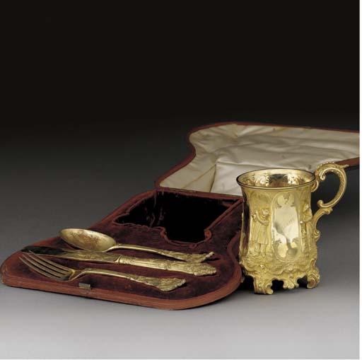 An Assembled Victorian Silver-