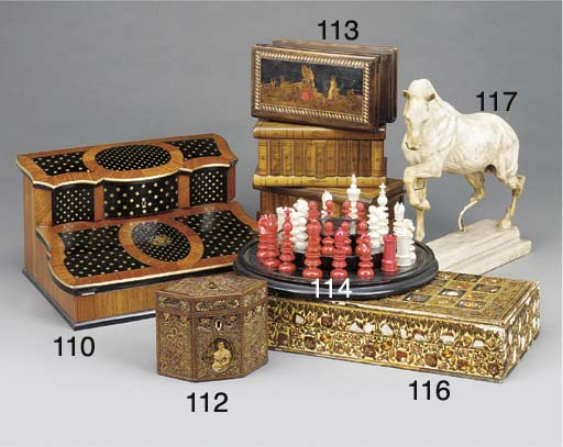 A Victorian ivory and stained