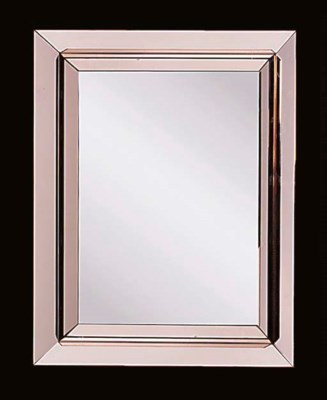 A rose tinted wall mirror