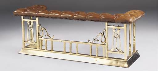 A brass club fender