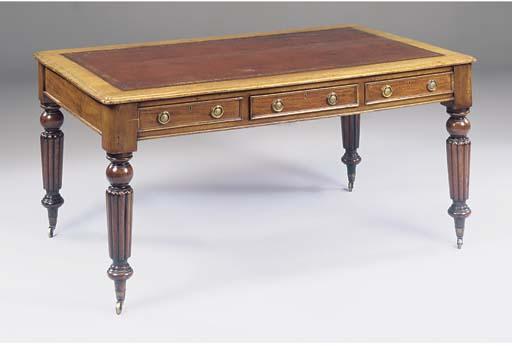 A Victorian mahogany writing d