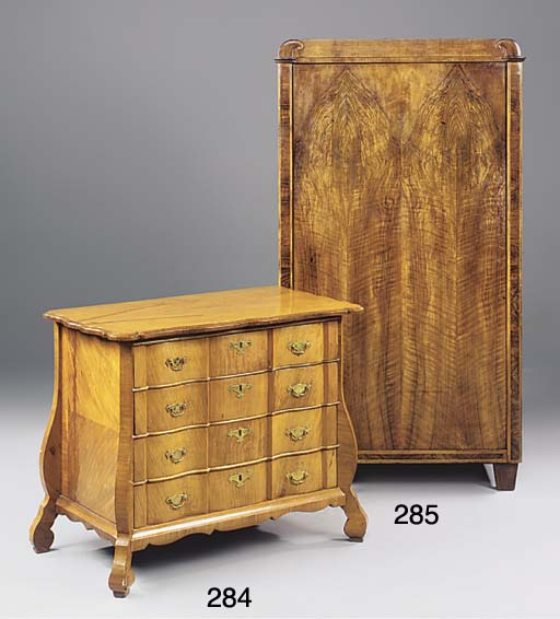 A DUTCH WALNUT AND FRUITWOOD S