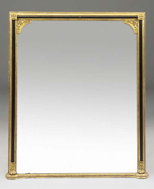 A Victorian gold painted compo