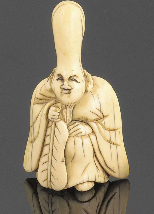 A japanese ivory netsuke of Fu