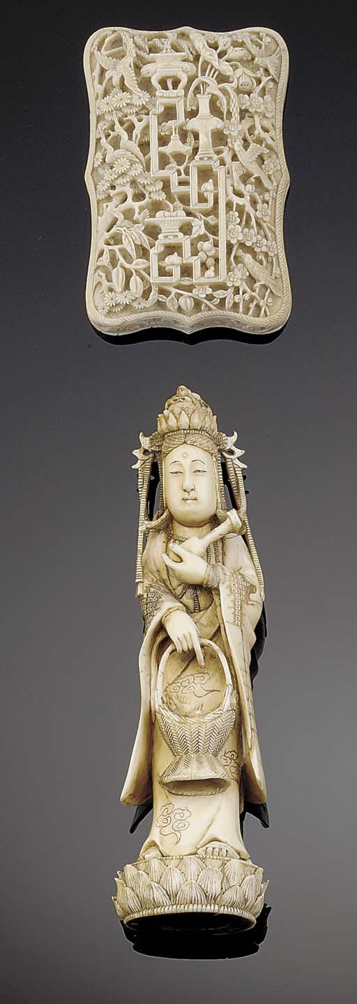 A Japanese ivory model of a ka