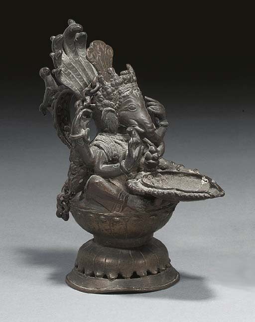 Indian bronze oil lamp modelle