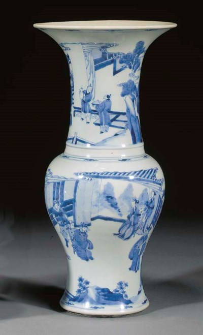 A Chinese blue and white yanya