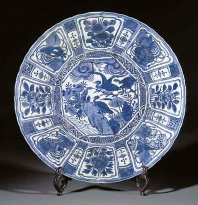 A Kraak porcelain charger, Wan