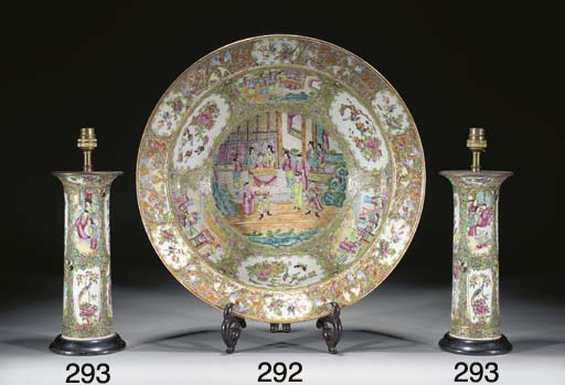 A large cantonese basin, 19th