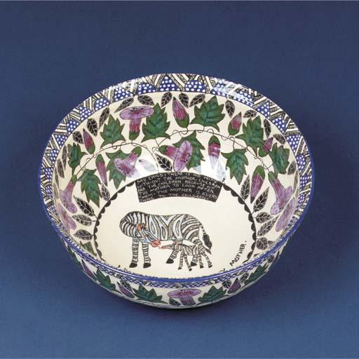 A zebra bowl