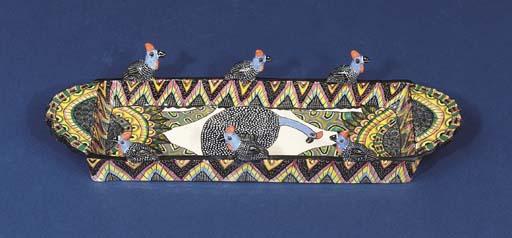 A guinea fowl tray